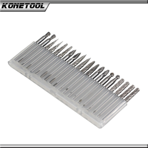 20 Piece Plastic Box carbide rotary Burr Sets